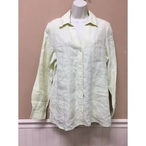 Talbots Irish Linen Button Long Sleeve Shirt